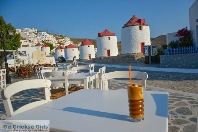 Frappe in Astypalaia Griekenland